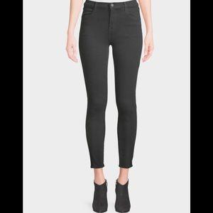 J Brand Jeans Black Alana HighRise Crop Capri $198
